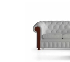 SOFA CHESTER ENTAPISSAT EN COLOR BLANC
