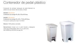 CONTENEDOR DE PLASTIC